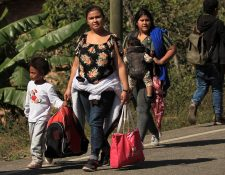 Hombre, mujeres y niños han migrado en caravana hacia EE. UU. desde octubre del año pasado. (Foto Prensa Libre: Hemeroteca PL)