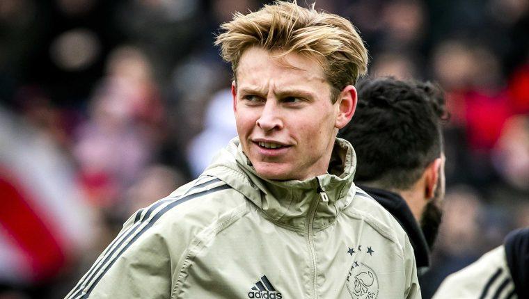 El mediocampista holandés Frenkie de Jong es pieza clave para el Ajax. (Foto Prensa Libre: EFE)