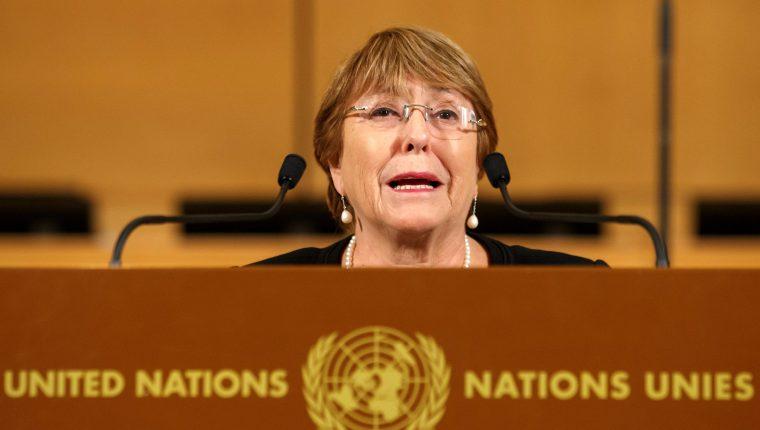 Michelle Bachelet, alta comisionada de derechos humanos de la ONU.  (Foto Prensa Libre: Hemeroteca PL)