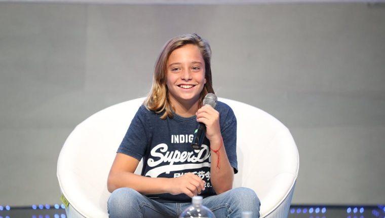 El español Izan Llunas interpreta a un niño Luis Miguel en la serie de Netflix (Foto Prensa Libre: José A. Ochoa).