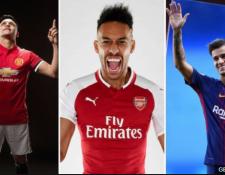 Los tres nombres más comentados del mercado: Alexis Sánchez, Pierre-Emerick Aubameyang y Philippe Coutinho. (Foto Prensa Libre: BBC Mundo)