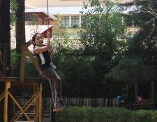 El parque tiene varias áreas de juegos para niños. (Foto Prensa Libre: Eduardo González)