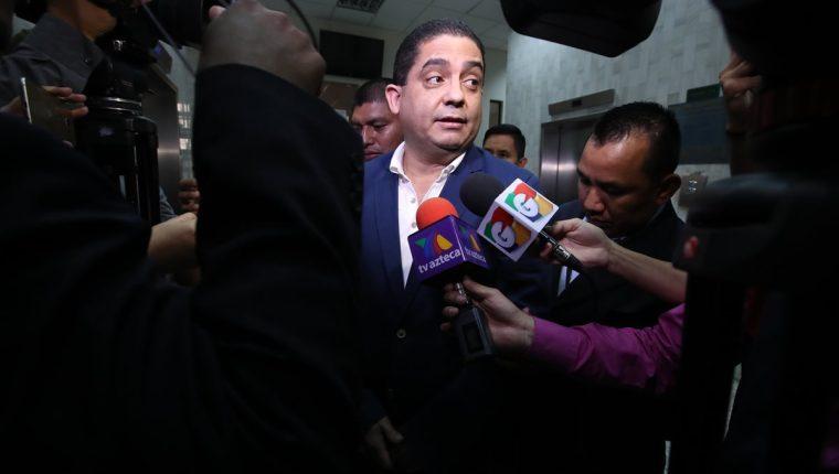 Juan Carlos Monzón, durante la audiencia de ayer. (Foto Prensa Libre: Paulo Raquec)