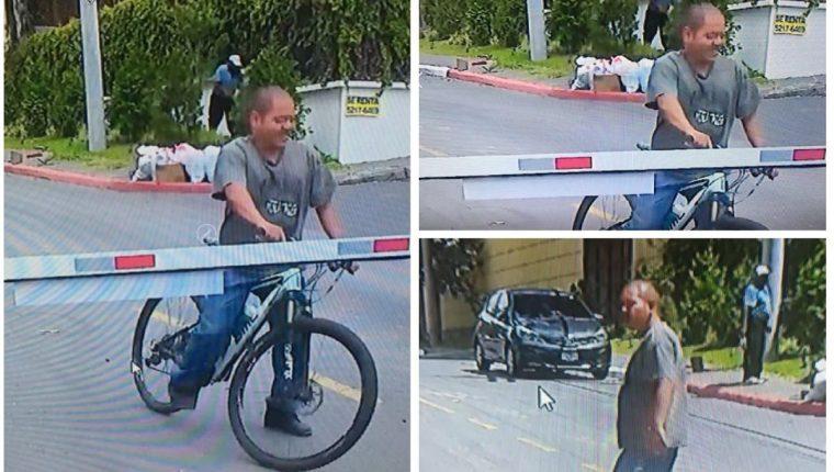 Imágenes del presunto ladrón que se llevo la bicicleta de Juan Maegli. (Foto Redes).