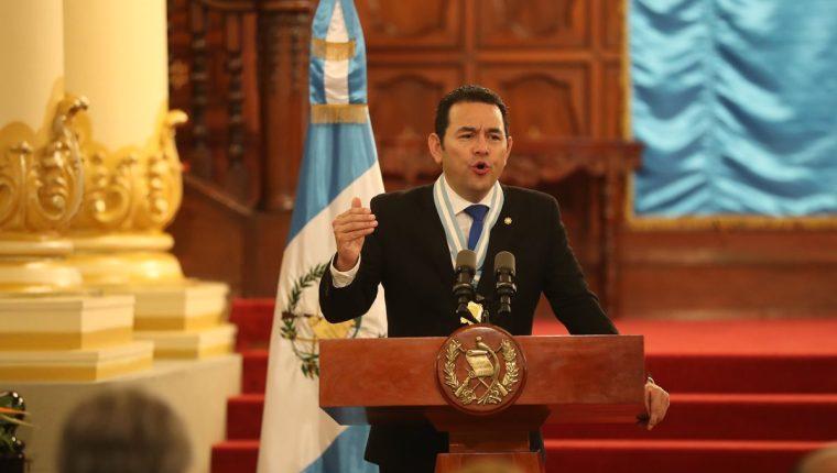 El presidente Jimmy Morales es señalado de cometer supuestos abusos sexuales en contra de trabajadoras del Estado, pero no hay denuncia formal. (Foto Prensa Libre: Hemeroteca PL)