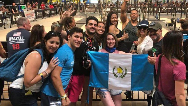 Joel Bran recibe el apoyo de los guatemaltecos durante las pruebas del sábado en los CrossFit Games. (Foto Joel Bran).