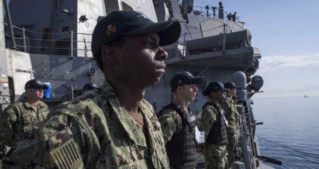 EE. UU. cuenta con amplio despliegue naval en la zona. (Foto Prensa Libre: AFP)