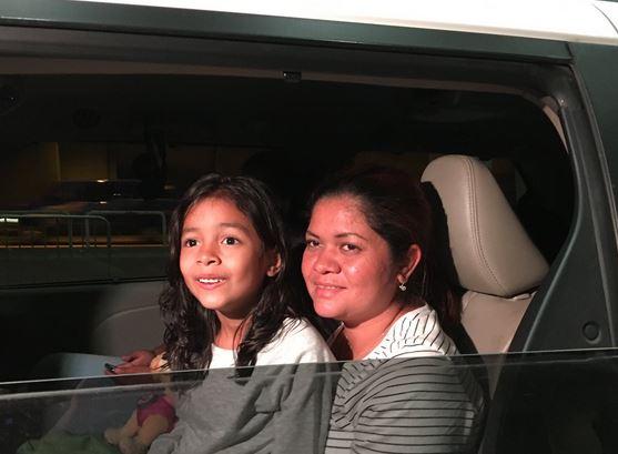 Alison Jimena Valencia Madrid llegó a Houston, Texas para reunirse con su madre Cindy Madrid, de la que había sido separada hacía un mes.