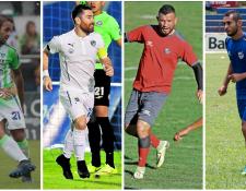José Contreras, Jean Márquez, Hamilton López y Danilo Guerra lamentan los problemas federativos que no dejan que termine la suspensión del futbol guatemalteco. (Foto Prensa Libre: Hemeroteca PL)