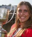Celia Barquín Arozamena logró el mayor triunfo de su corta carrera hace dos meses con el Campeonato Europeo Aficionado. (Foto Prensa Libre: BBC News Mundo)