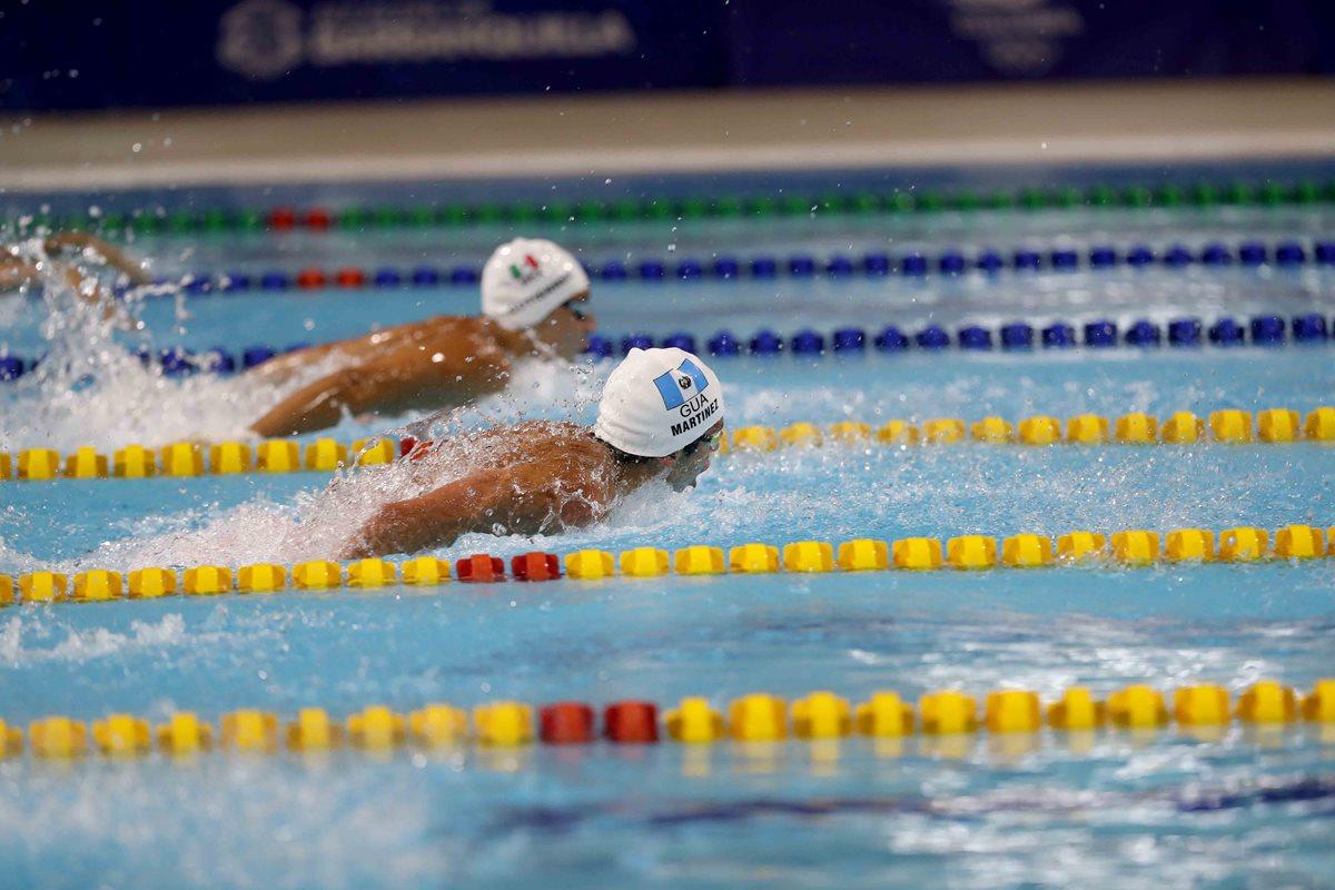 El nadador guatemalteco Luis Carlos Martínez dio su máximo esfuerzo y se quedó con el metal dorado. (Foto Prensa Libre: Carlos Vicente).