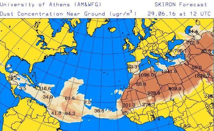 Cuidado con el polvo del Sahara en Guatemala