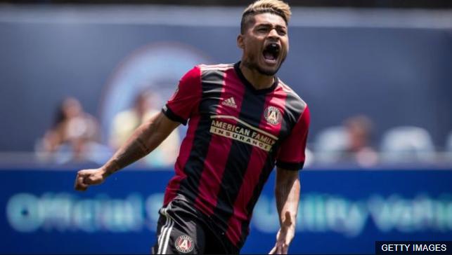 El venezolano Josef Martínez lleva un promedio de un gol por partido desde que llegó al Atlanta United en 2017, sumando 43 goles en total. (Foto Prensa Libre: BBC Mundo)