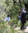 Lugar donde ocurrió el hallazgo en la cabecera de Huehuetenango. (Foto Prensa Libre: Mike Castillo).