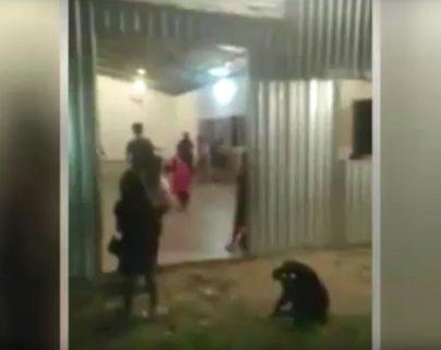 La pelea entre dos mujeres se registró en una iglesia de Honduras. (Foto Prensa Libre: Youtube)