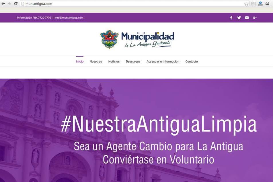 Pornografía sustituye web de comuna de Antigua Guatemala