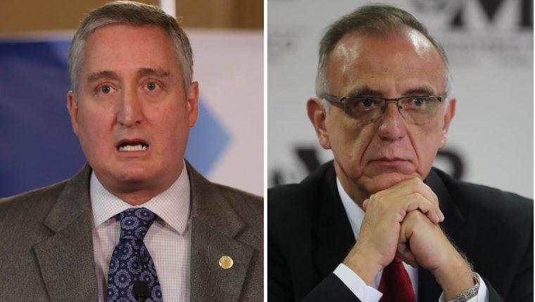 Enrique Degenhart, ministro de Gobernación, e Iván Velásquez, director de Cicig. (Foto Prensa Libre: Hemeroteca PL)