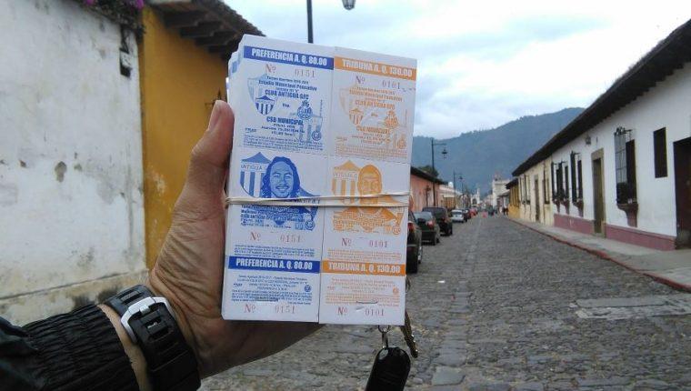 La directiva de Antigua GFC puso a la venta 9 mil 500 entrada para el duelo contra Municipal. (Foto Prensa Libre: Francisco Sánchez).