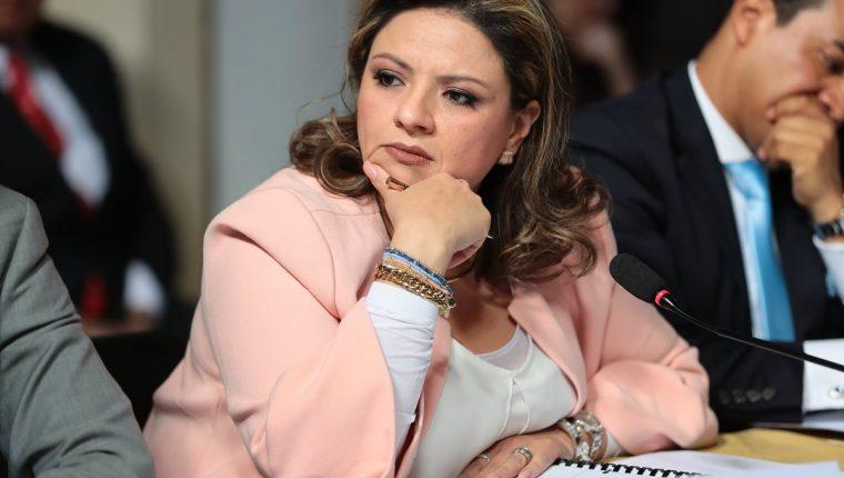 La canciller Sandra Jovel fue citada al Congreso por el diputado de URNG Walter Félix, para cuestionarla sobre su visita a la ONU. (Foto HemerotecaPL)