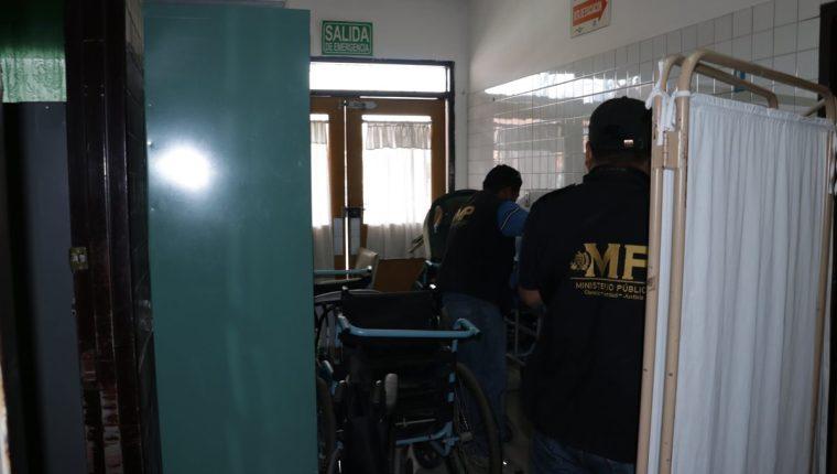 Oswer Geovani García Hernández falleció en el Hospital Nacional de Chimaltenango. (Foto Prensa Libre: Víctor Chamalé)