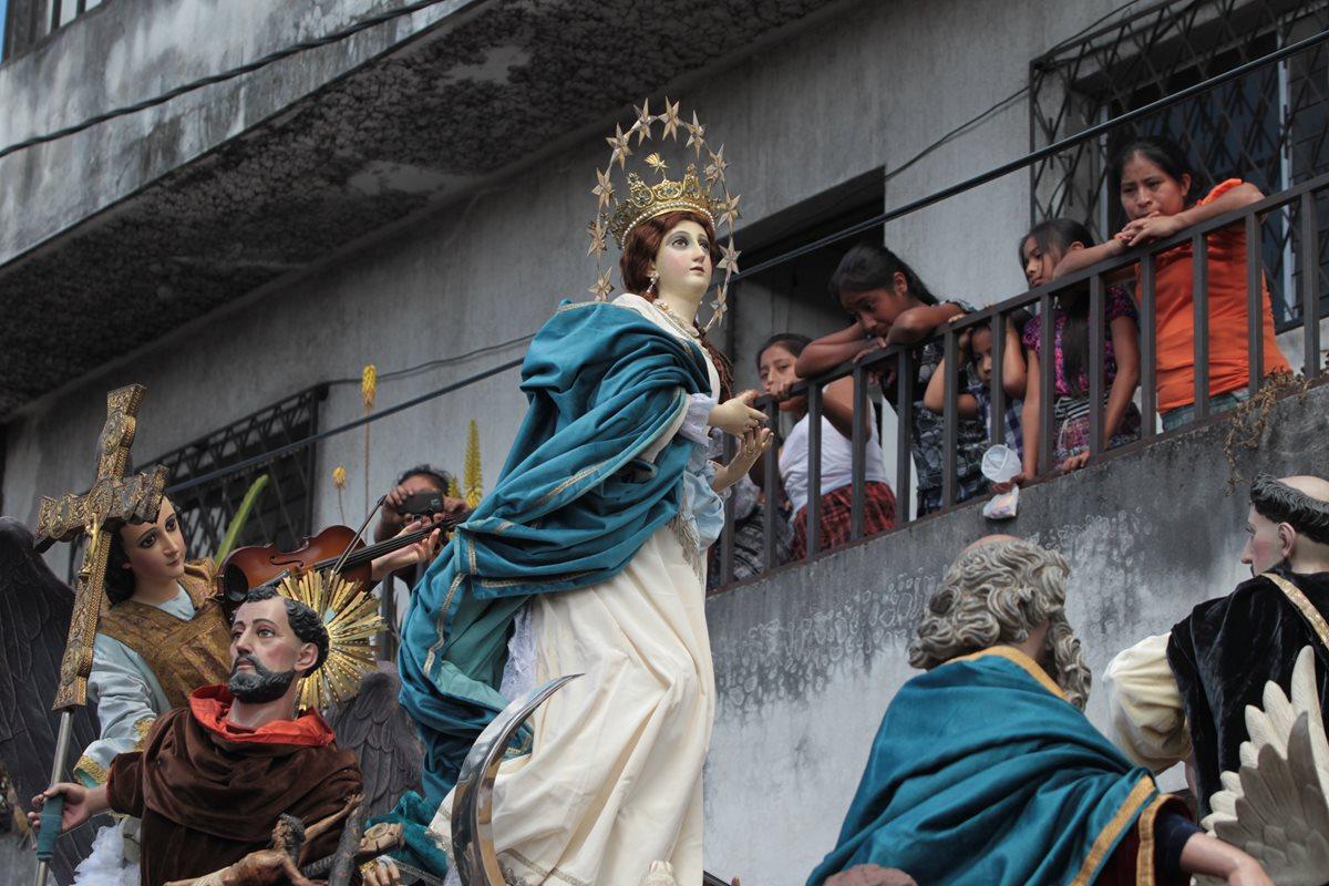 Virgen de la Concepción recorre barrios de la capital