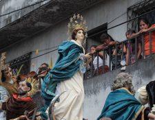 Virgen de la Pólvora, la imagen de la Inmaculada Concepción del Santuario Expiatorio del Sagrado Corazón de Jesús, Don Bosco (Fotografía: Érick Ávila)