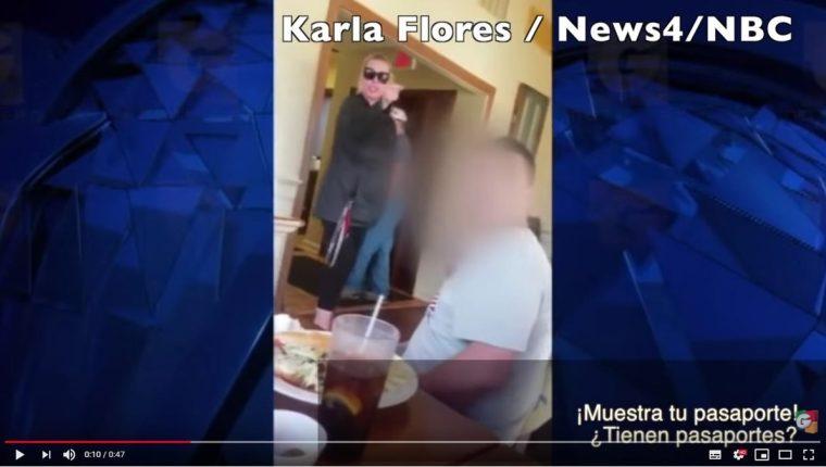 El video de la agresión de una mujer contra una familia guatemalteca en Virginia fue publicado por medios de comunicación de la localidad. (Foto Prensa Libre: Youtube Guatevisión)