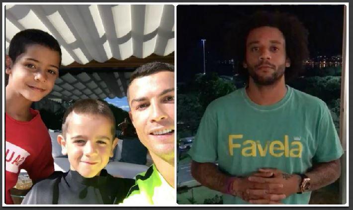 Cristiano y Marcelo mostraron sus mejores movimientos de cabeza al ritmo de mi gente. (Foto Prensa Libre: Instagram)