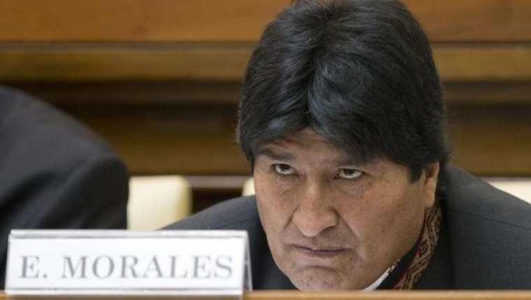 """Evo Morales, presidente de Bolivia calificó como un completo acto de """"burla"""" que Guatemala haya desconocido resolución de la ONU. (Foto Prensa Libre: AFP)"""