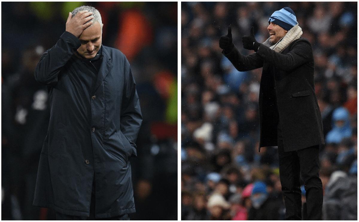 José Mourinho y Pep Guardiola se enfrentaron en España, luego en Mánchester, pero se vuelven a separar. (Foto Prensa Libre: AFP)