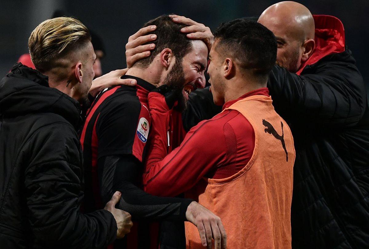 Gonzalo Higuaín rompe su sequía goleadora de 720 minutos con el Milán