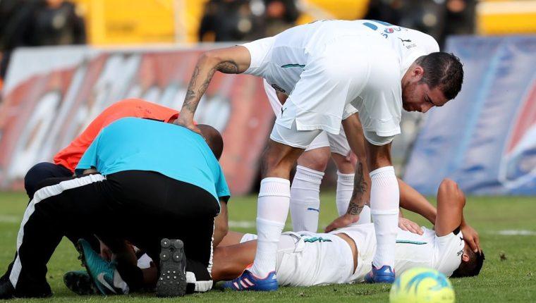 Rafa Morales, de Comunicaciones, sufrió una lesión del peroné que lo tiene fuera de las canchas. (Foto Hemeroteca PL).