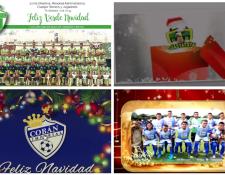 Antigua GFC, Deportivo Guastatoya, Cobán Imperial y Suchitepéquez, celebran la Navidad en el futbol guatemalteco. (Foto Prensa Libre: equipos)
