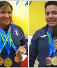 Santos González y Óscar Valdizón tuvieron el premio a su esfuerzo con preseas doradas y de bronce. (Foto Prensa Libre: Carlos Vicente)