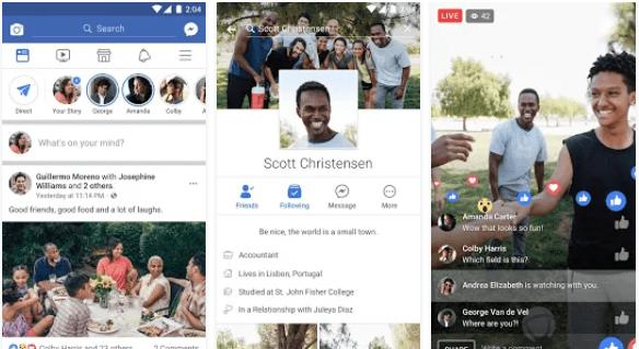 Los términos y condiciones de Facebook pondrían en aprietos a los usuarios de Android (Foto Prensa Libre: Google Play / Facebook).