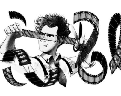Este lunes se cumplen 120 años del nacimiento del cineasta Sergei Eisensteir, y en la página principal del buscador de Google aparece un doodle para conmemorar su natalicio. (Foto Prensa Libre: Google)