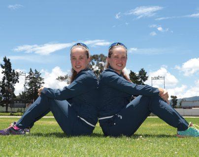 Las gemelas Schoenfeld están ansiosas por competir en los Juegos Centroamericanos y del Caribe de Barranquilla 2018. (Foto Prensa Libre: Raúl Juárez)