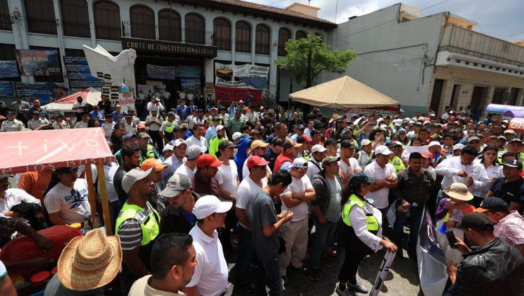 La CC ordenó a las Minera San Rafael detener las actividades por discriminación, lo que ha causado diversas protestas. (Foto Prensa Libre: Carlos Hernández)