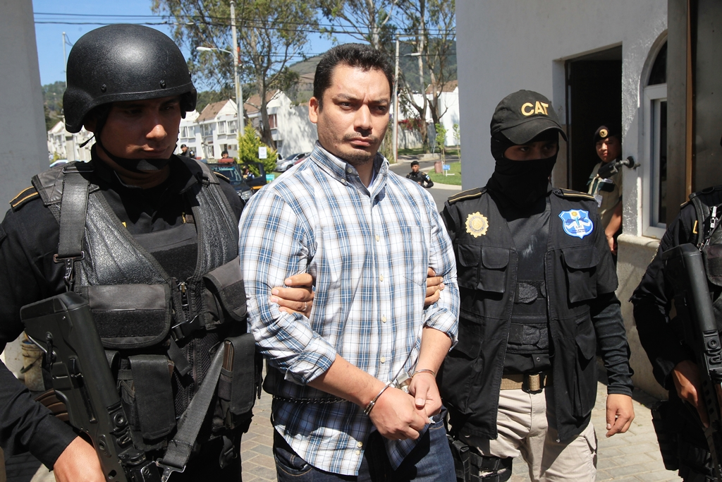El salvadoreño Pedro Benjamín Rivas Zelaya, cabecilla de la Federación de la MS en el vecino país, fue capturado en San José Pinula. (Foto Prensa Libre: E. Paredes)