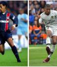 Ronaldinho, uno de los mejores jugadores de la historia del futbol, marcó un gol hace 15 años, que comparan con el realizado por Mbappé. Ambos con el PSG. (Foto Prensa Libre: AFP e internet)