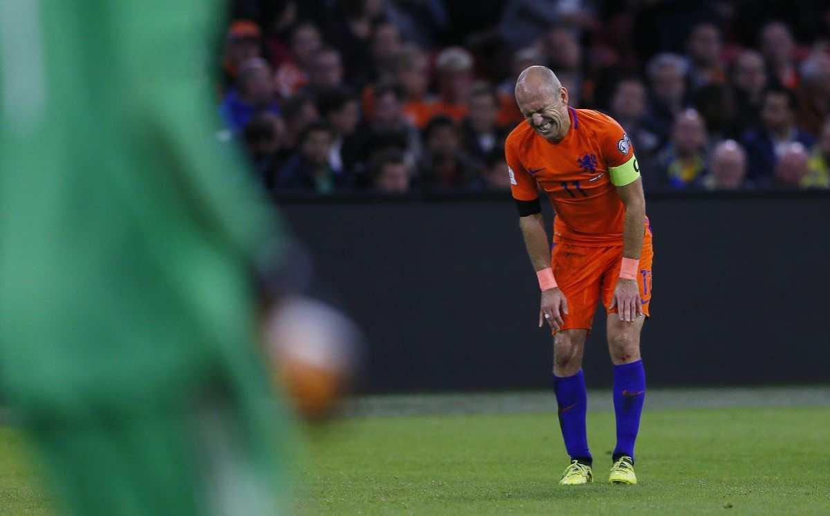 Robben se retira de la selección de Holanda tras no lograr la clasificación a Rusia