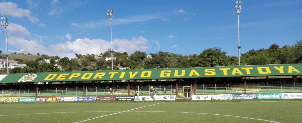 El estadio David Cordón Hichos ha lucido vacío en las presentaciones del campeón Guastatoya. (Foto Prensa Libre: La Liga Nacional)