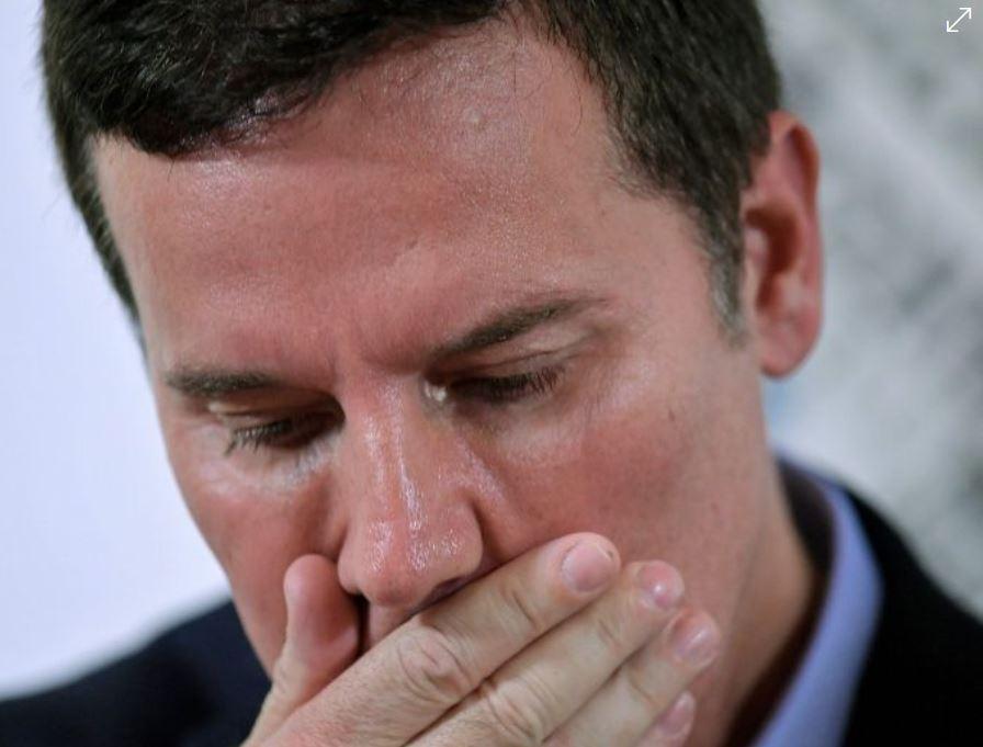"""Juan Carlos Cruz, uno de los tres denunciantes que destaparon el """"Caso Karadima"""", donde acusan al sacerdote Fernando Karadima de abusos sexuales se reunió con el Papa Francisco. (Foto Prensa Libre: AFP)"""