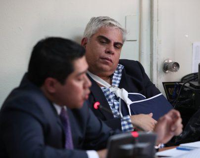 El exmagistrado Frank Trujillo durante la audiencia de este miércoles. (Foto Prensa Libre: Manuel Hernández).