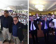Los binomios presidenciales de los partidos Fuerza y Todos fueron proclamados este domingo en asambleas generales.(Foto Prensa Libre: Carlos Ovalle)