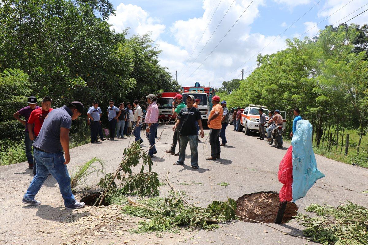 Se restringe paso en un carril de la ruta hacia frontera El Ceibo