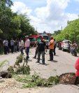 Los agujeros se hallan en el kilómetro 530 ruta de la Libertad a la frontera con México. (Foto Prensa Libre: Rigoberto Escobar)