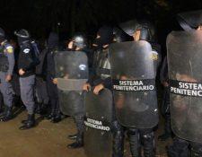 Autoridades del Sistema Penitenciario, frustran posible fuga masiva de Pavón. (Foto Prensa Libre: DGSPG)