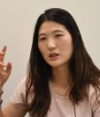Kim Eun-hee cuenta como fue violada y golpeada por su entrenador desde que tenía 10 años. (Foto Prensa Libre: AFP)