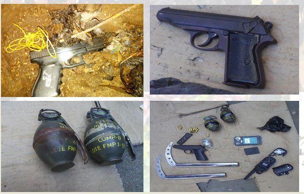 Cateo en Pavón; hallan granadas, armas y cocaína
